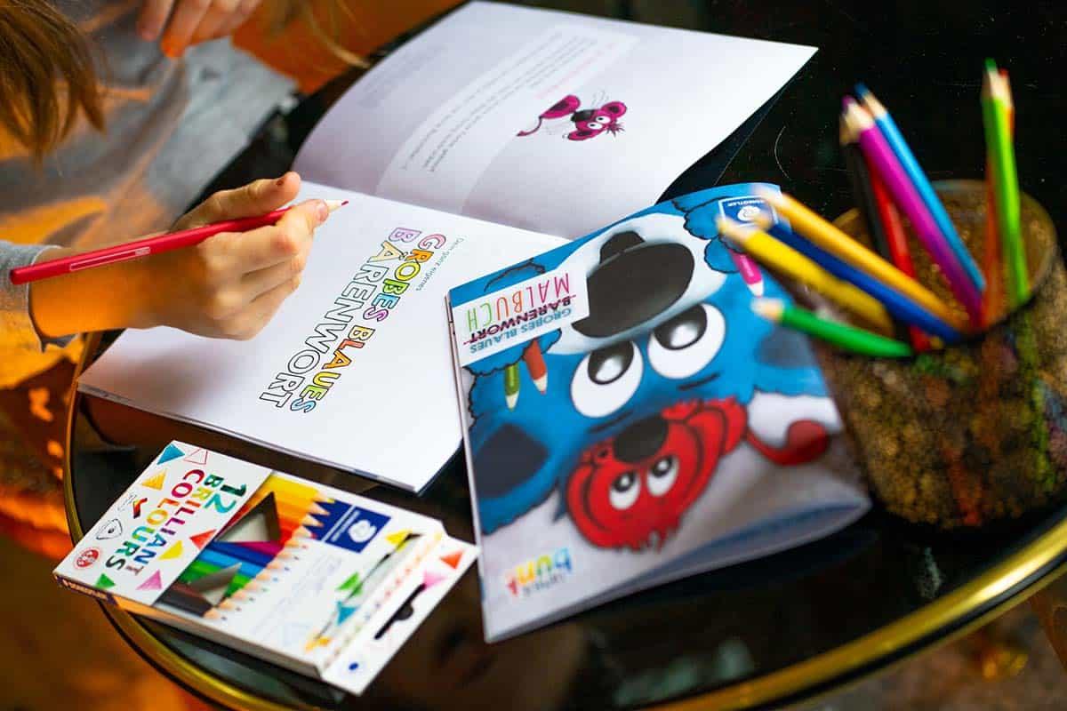 Bärenwort - Malbuch Set: Zeichnen